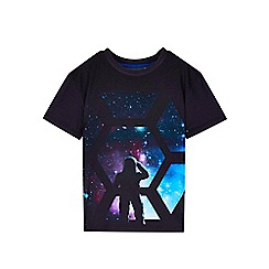 Outfit Kids - Boys' black short sleeve space t-shirt