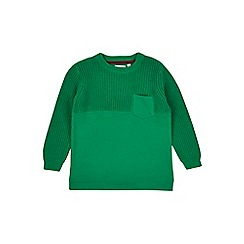 Outfit Kids - Boys' green textured jumper
