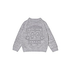 Outfit Kids - Boys' grey robot design knitted jumper