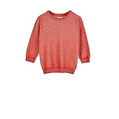 Outfit Kids - Boys' red twisted jumper