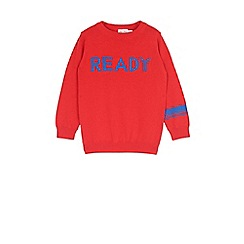 Outfit Kids - Boys' red slogan knitted jumper