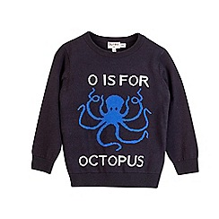 Outfit Kids - Boys' navy octopus knittedjumper