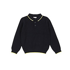 Outfit Kids - Boys' long sleeve navy polo shirt