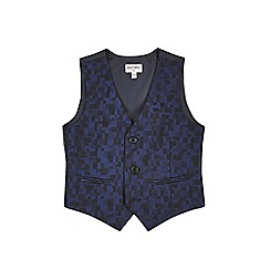 Outfit Kids - Boys' navy checked party waistcoat