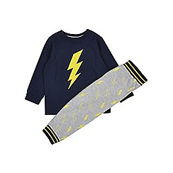 Outfit Kids - Boys' navy lightning bolt pyjama set