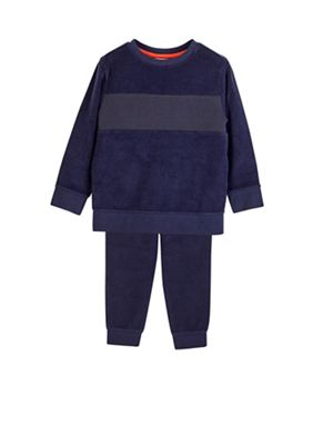 Outfit Kids   Boys' Navy Towelling Tracksuit Set by Outfit Kids