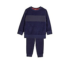 Outfit Kids - Boys' navy towelling tracksuit set