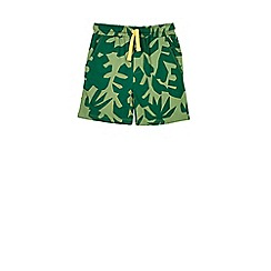 Outfit Kids - Boys' green leaf jersey shorts