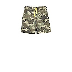 Outfit Kids - Boys' khaki camouflage jersey shorts