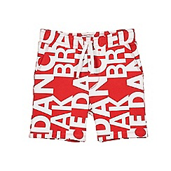 Outfit Kids - Boys' red 'break dance' slogan shorts