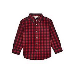 Outfit Kids - Boys' red gingham checked shirt