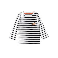 Outfit Kids - Boys' white long sleeve stripe t-shirt