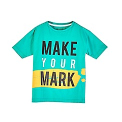 Outfit Kids - Boys' green 'make your mark' t-shirt