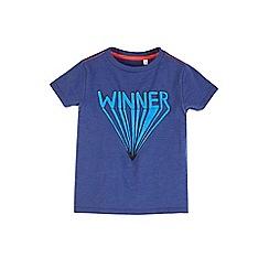 Outfit Kids - Boys' navy 'winner' slogan t-shirt