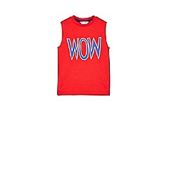 Outfit Kids - Boys' red wow vest