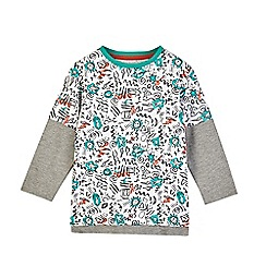 Outfit Kids - Boys' white graffiti layered t-shirt