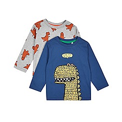 Outfit Kids - 2 pack boy's multi coloured dinosaur print t-shirts