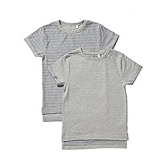 Outfit Kids - 2 pack boys' grey striped t-shirts