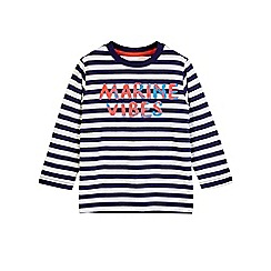 Outfit Kids - Boys' navy 'marine vibes' slogan t-shirt