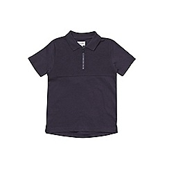 Outfit Kids - Boys' navy zip polo shirt