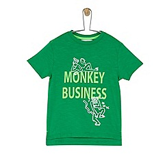 Outfit Kids - Boys' green monkey business slogan t-shirt