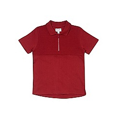 Outfit Kids - Boys' red zip polo shirt