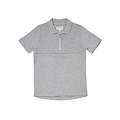 Outfit Kids - Boys' grey zip polo shirt