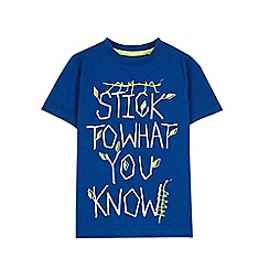 Outfit Kids - Boys' blue slogan t-shirt