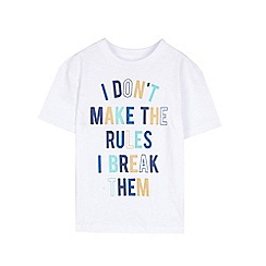 Outfit Kids - Boys' white rules slogan t-shirt