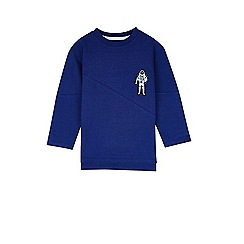 Outfit Kids - Boys' blue spaceman badge t-shirt