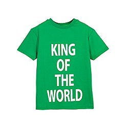Outfit Kids - Boys' green king of the world t-shirt