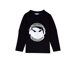 Outfit Kids - Boys' black mock layer astro t-shirt