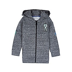 Outfit Kids - Boys' grey zip through space hoodie