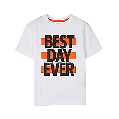 Outfit Kids - Boys' white best day ever t-shirt