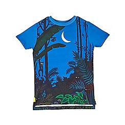 Outfit Kids - Boys' blue moonlight jungle print t-shirt