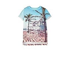 Outfit Kids - Boys' blue beach scene t-shirt