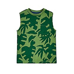 Outfit Kids - Boys' green leaf print vest