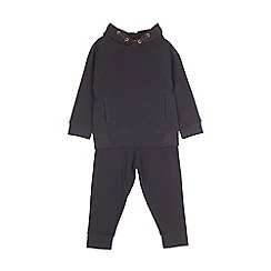 Outfit Kids - Boys' navy ribbed ottoman sweatshirt and joggers set