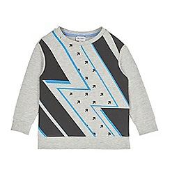 Outfit Kids - Boys' grey lightning bolt sweat top