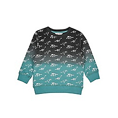 Outfit Kids - Boys' navy origami dinosaur print sweatshirt