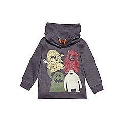 Outfit Kids - Boys' grey monster print hoodie