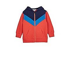 Outfit Kids - Boys' navy chevron zip through hoodie