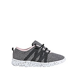 Outfit Kids - Girls' black knitted sports trainers