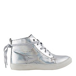 Outfit Kids - Girls' silver hi top trainers