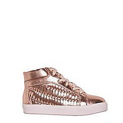 Outfit Kids - Girls' gold metallic lace up shoes