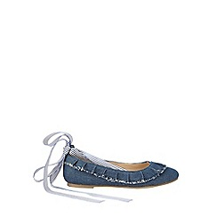 Outfit Kids - Girls' blue frill strap pumps