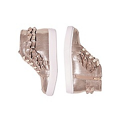 Outfit Kids - Girls' gold frill high top shoes