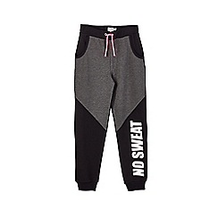 Outfit Kids - Girls' charcoal black sports joggers