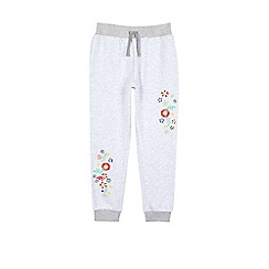 Outfit Kids - Girls' grey embroidered joggers