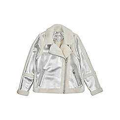 Outfit Kids - Girls' silver borg coat